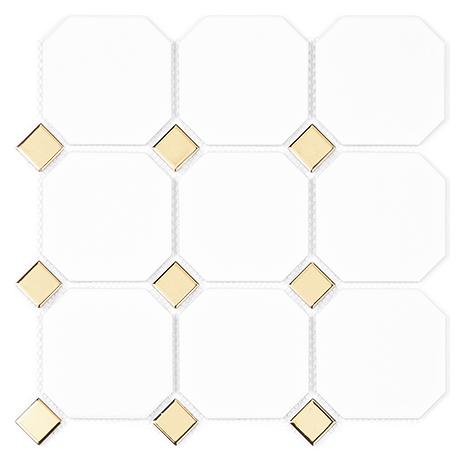 [레그노] GO BOARD WHITE & GOLD 95+25 모자이크타일